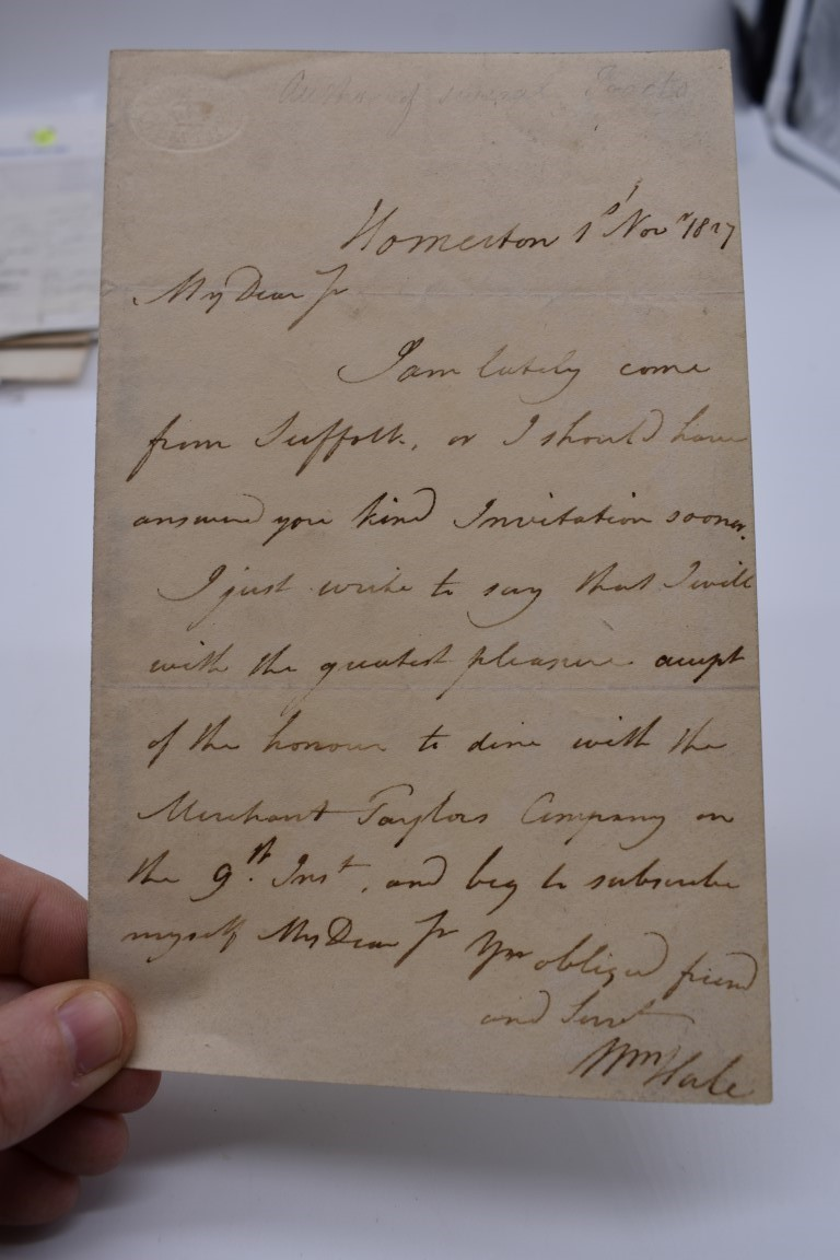 LETTERS AND AUTOGRAPHS, 19THC:collection of approx 33 ALS and cut autographs, largely 19th century - Image 29 of 46