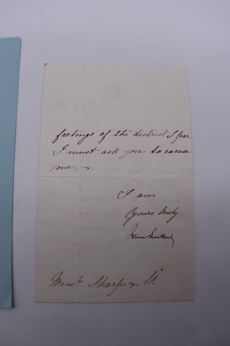LETTERS & SIGNATURES:a quantity in bundle, largely 19th century nobility and political. (Small - Image 10 of 37
