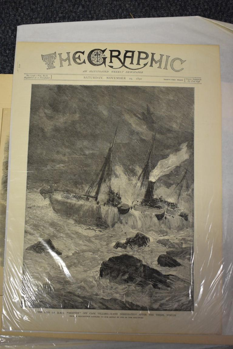 MARITIME ENGRAVINGS: SHIPWRECKS:collection of approx 50 prints and engravings, largely 18th-19th - Image 41 of 62
