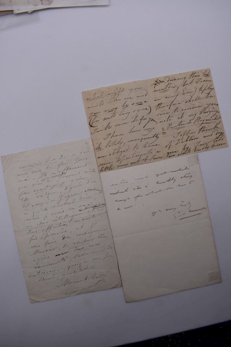 MANUSCRIPT MISCELLANY:collection of ALS and cut signatures, to include 2 side letter from conductor - Image 16 of 36