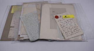 LETTERS, SIGNATURES, MANUSCRIPT MISCELLANY:a collection of over 45 items, largely 19th and early