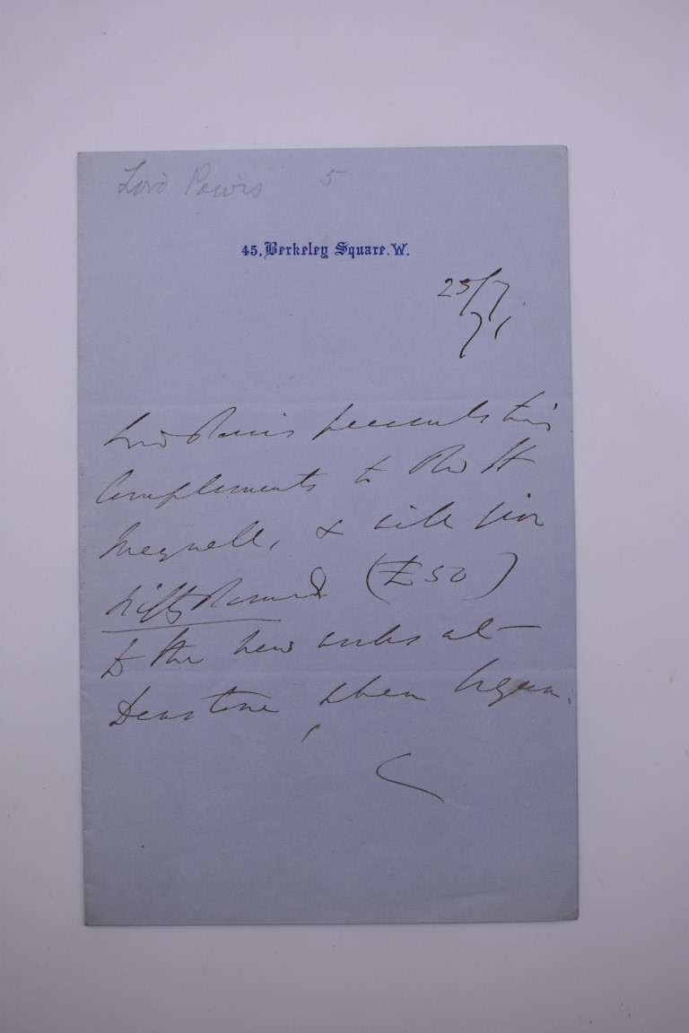 LETTERS & SIGNATURES:a quantity in bundle, largely 19th century nobility and political. (Small - Image 28 of 37