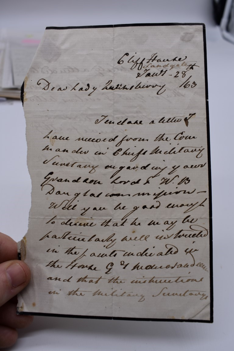 LETTERS AND AUTOGRAPHS, 19THC:collection of approx 33 ALS and cut autographs, largely 19th century - Image 18 of 46