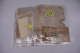 MARITIME PRINTED AND MANUSCRIPT DOCUMENTS, 18TH-19THC:collection of approx 12 items including