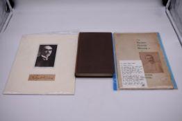 KIPLING (Rudyard):cut signature of Rudyard Kipling, window mounted below contemporary postcard