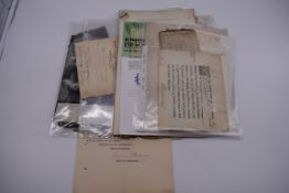 PRINTED AND MANUSCRIPT EPHEMERA:a bundle, to include typescript valuations of pictures in the