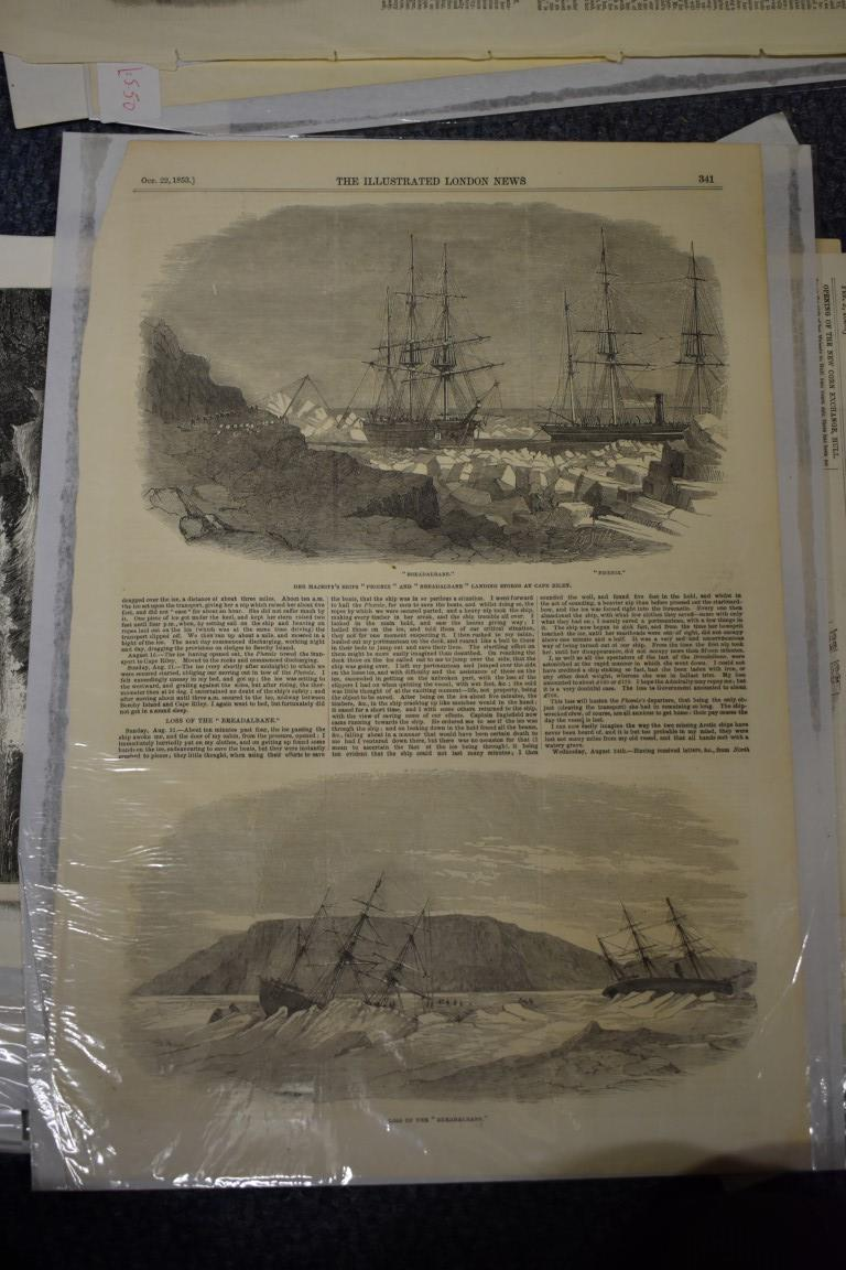 MARITIME ENGRAVINGS: SHIPWRECKS:collection of approx 50 prints and engravings, largely 18th-19th - Image 54 of 62