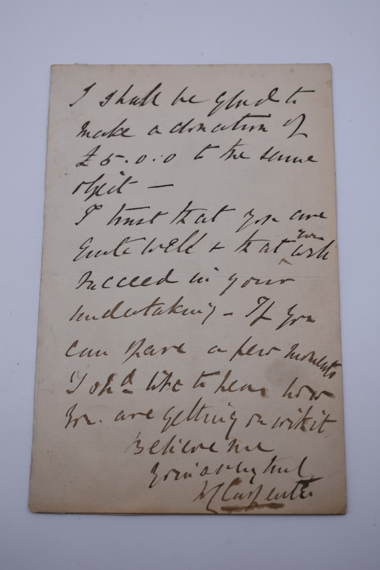 LETTERS AND AUTOGRAPHS, NAVAL AND MILITARY:collection of approx 30 items, late 18th-early 20thc, to - Image 23 of 51