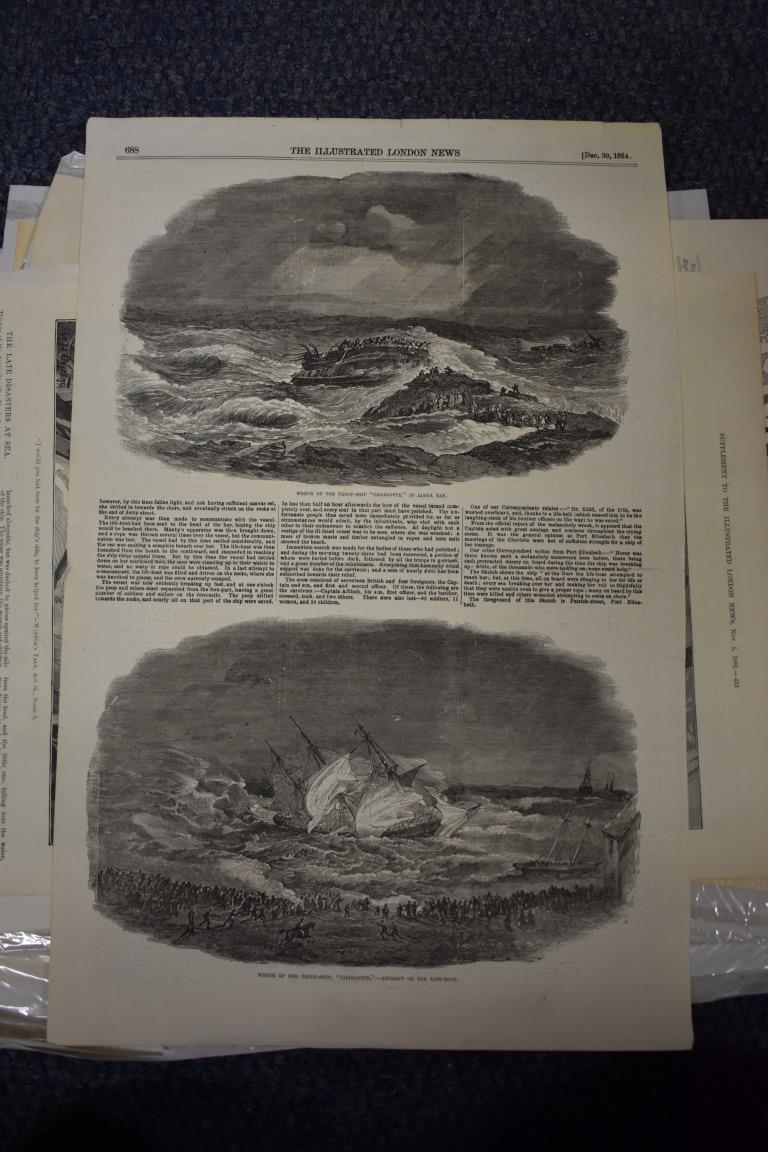 MARITIME ENGRAVINGS: SHIPWRECKS:collection of approx 50 prints and engravings, largely 18th-19th - Image 46 of 62