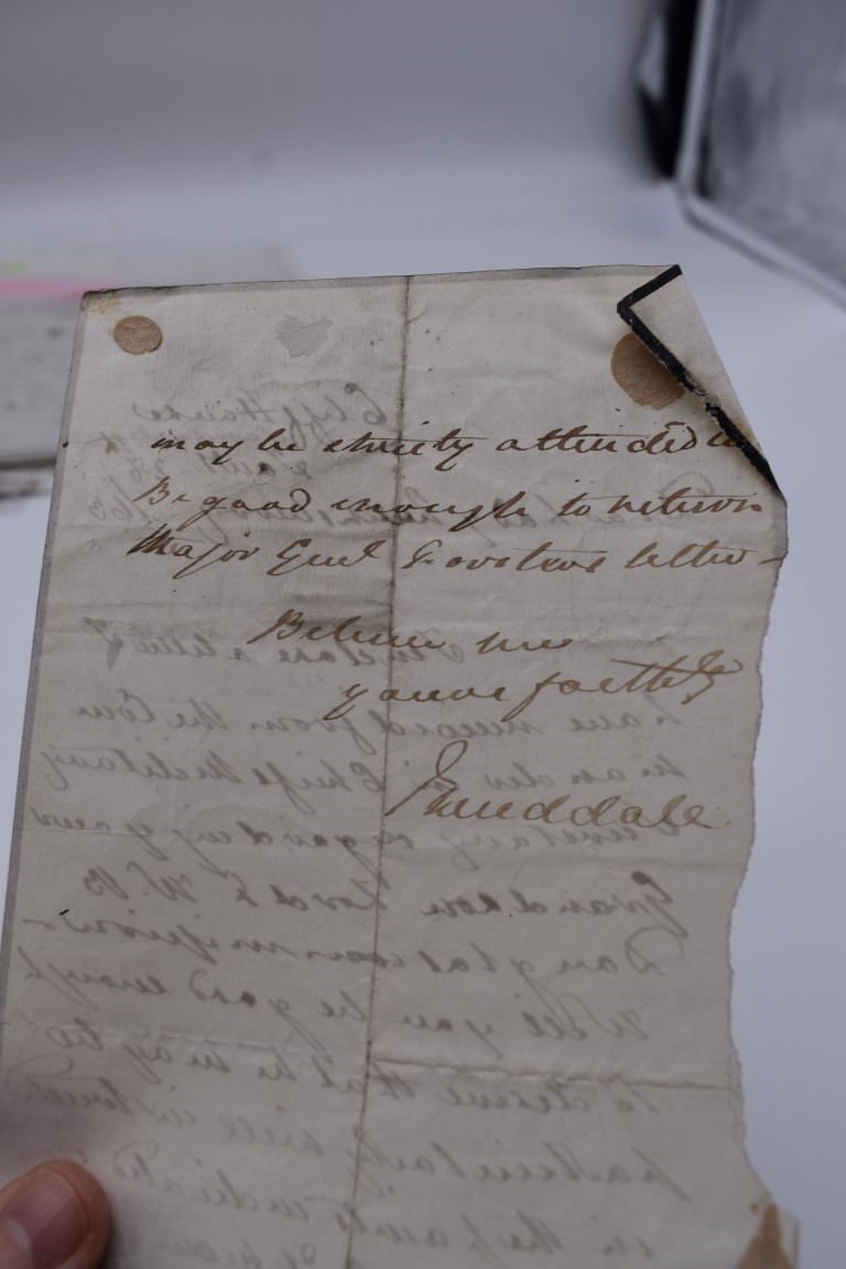 LETTERS AND AUTOGRAPHS, 19THC:collection of approx 33 ALS and cut autographs, largely 19th century - Image 19 of 46