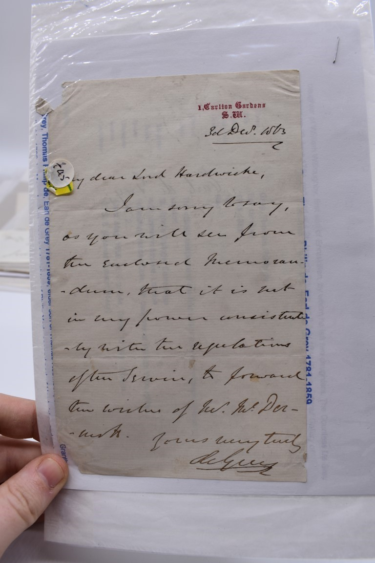LETTERS AND AUTOGRAPHS, 19THC:collection of approx 33 ALS and cut autographs, largely 19th century - Image 7 of 46