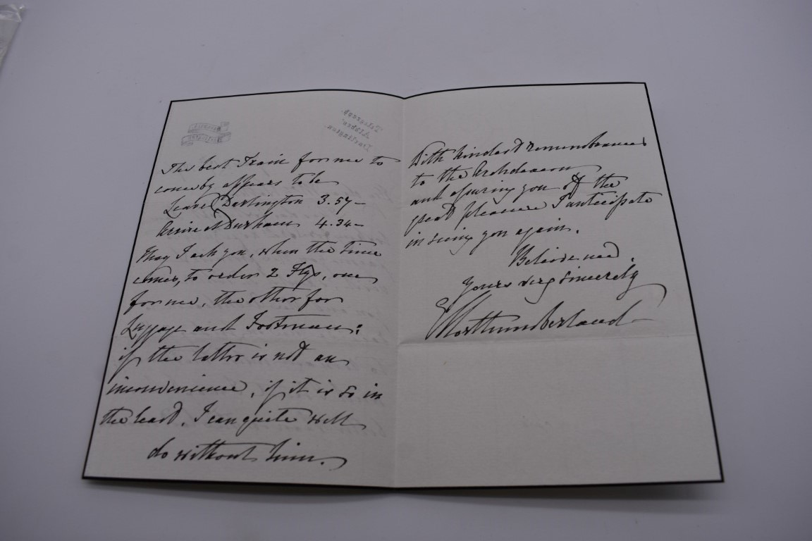 MANUSCRIPT MISCELLANY:a group of approx 27 items, largely 19thc ALS from nobility, churchmen, - Image 23 of 42
