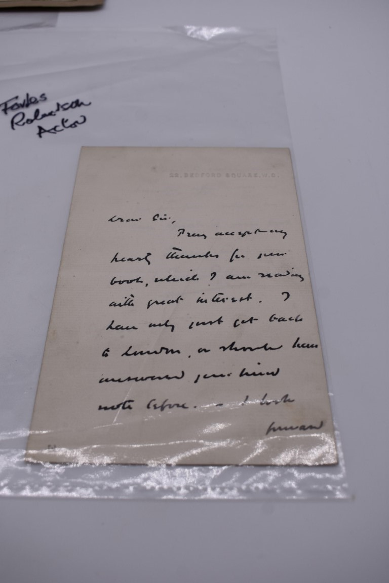 MANUSCRIPT MISCELLANY:collection of ALS and cut signatures, to include 2 side letter from conductor - Image 26 of 36