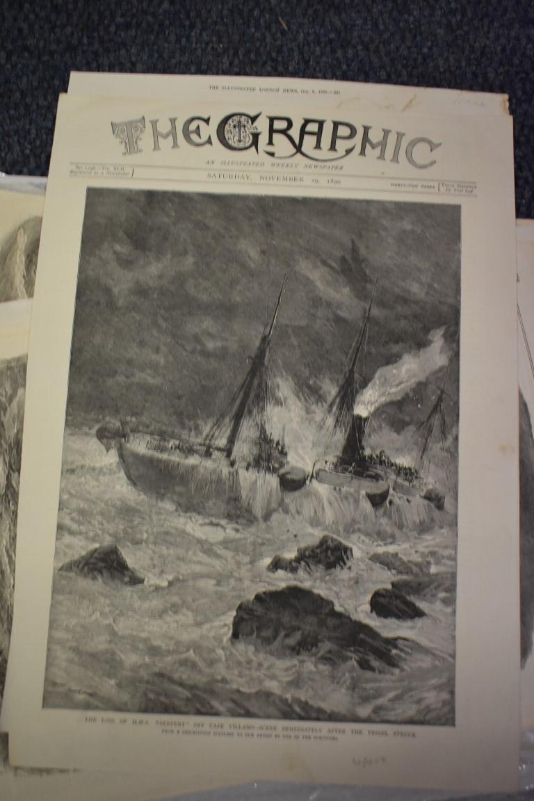 MARITIME ENGRAVINGS: SHIPWRECKS:collection of approx 50 prints and engravings, largely 18th-19th - Image 44 of 62