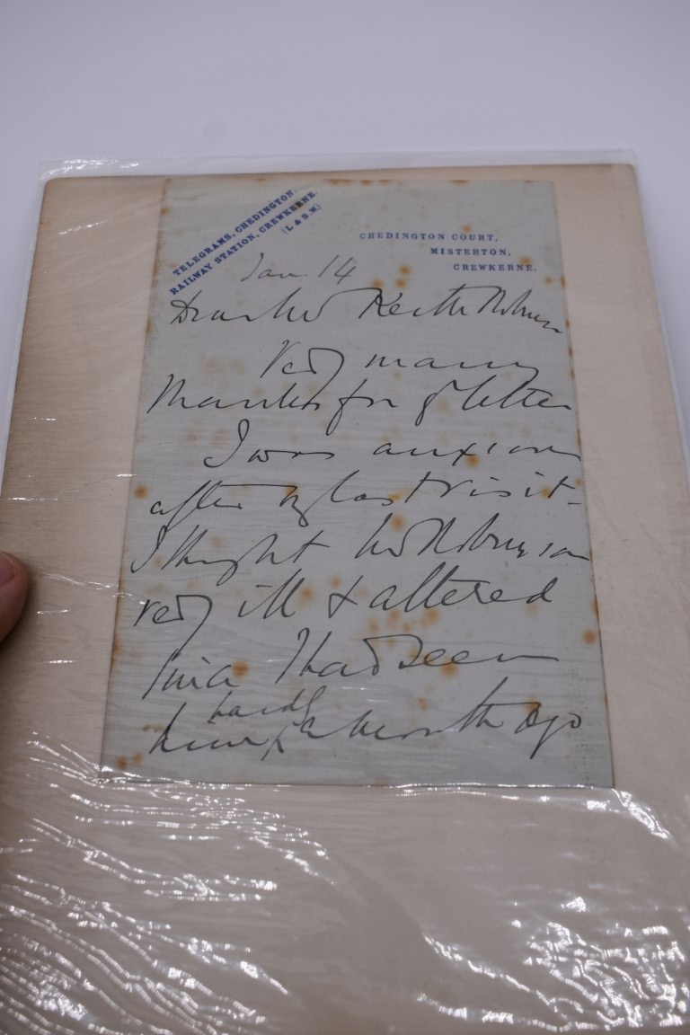 MANUSCRIPTS: a quantity of letters and cut signatures, largely 19th century. (A bundle) - Image 49 of 49