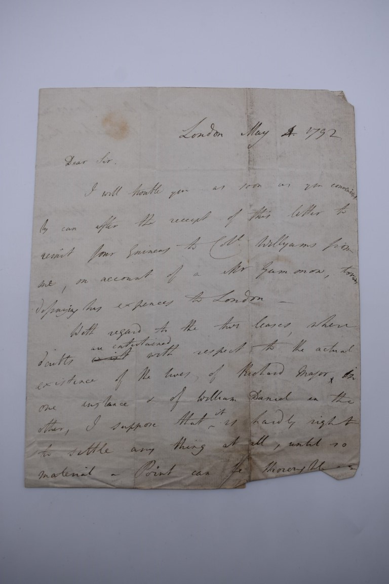 MANUSCRIPTS:collection of approx 15 items, 17th-early 19thc manuscripts, to include 2pp letter - Image 17 of 29