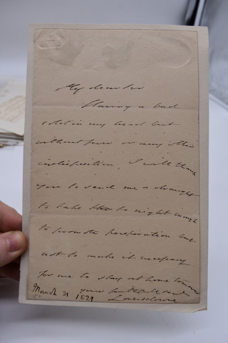 LETTERS AND AUTOGRAPHS, 19THC:collection of approx 33 ALS and cut autographs, largely 19th century - Image 8 of 46
