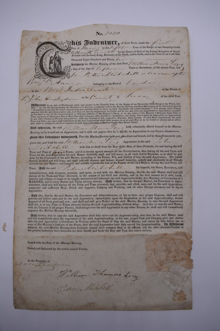 MARITIME DOCUMENTS:a group of 3, to include marine insurance policy 1801, all war risks covered ' - Image 14 of 15