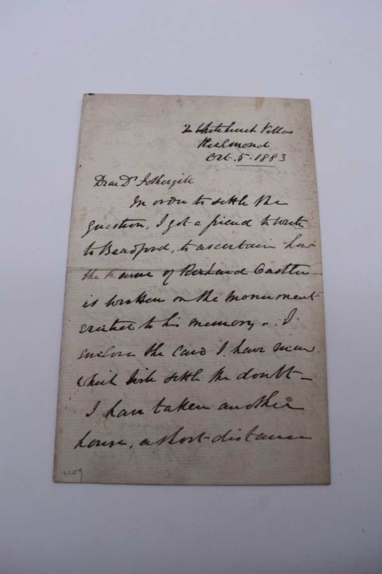 MANUSCRIPT MISCELLANY:a group of approx 27 items, largely 19thc ALS from nobility, churchmen, - Image 12 of 42