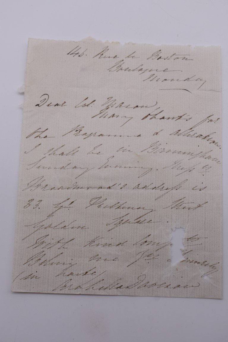 LETTERS & SIGNATURES:a quantity in bundle, largely 19th century nobility and political. (Small - Image 4 of 37