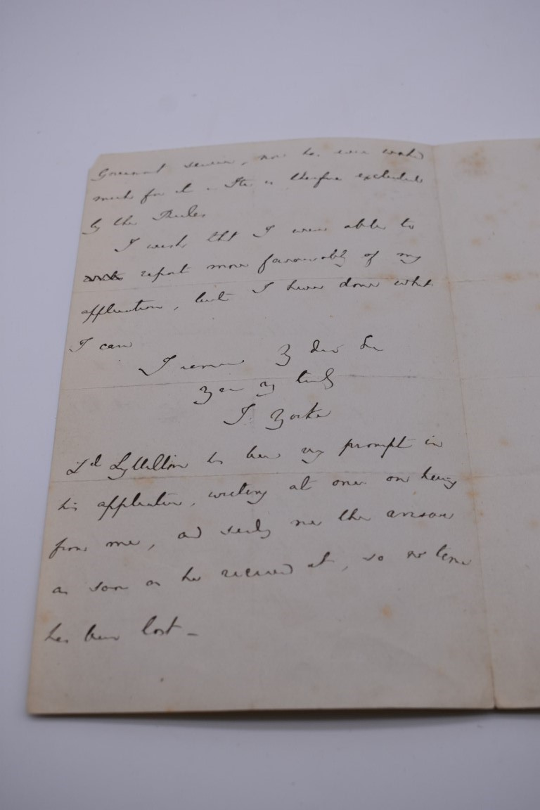 MANUSCRIPTS: a quantity of letters and cut signatures, largely 19th century. (A bundle) - Image 13 of 49