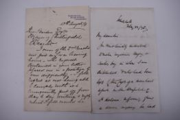 STEPHENSON (George, Railway Founder):interesting 3pp ALS, Kyle of Bute 13 August 1879 to the