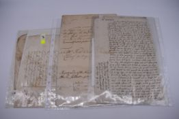MANUSCRIPT DOCUMENTS, 17TH & 18THC:a group of 6, to include 34 line witness account of an assault