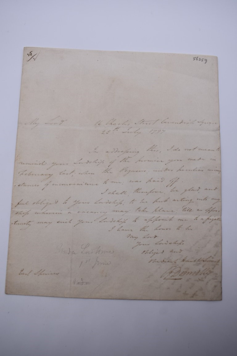 LETTERS AND AUTOGRAPHS, NAVAL AND MILITARY:collection of approx 30 items, late 18th-early 20thc, to - Image 39 of 51