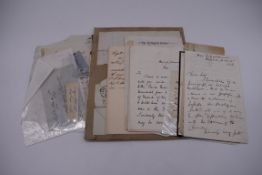 MANUSCRIPT MISCELLANY: a quantity of ALS and cut signatures, largely 19thc politicians, nobility and