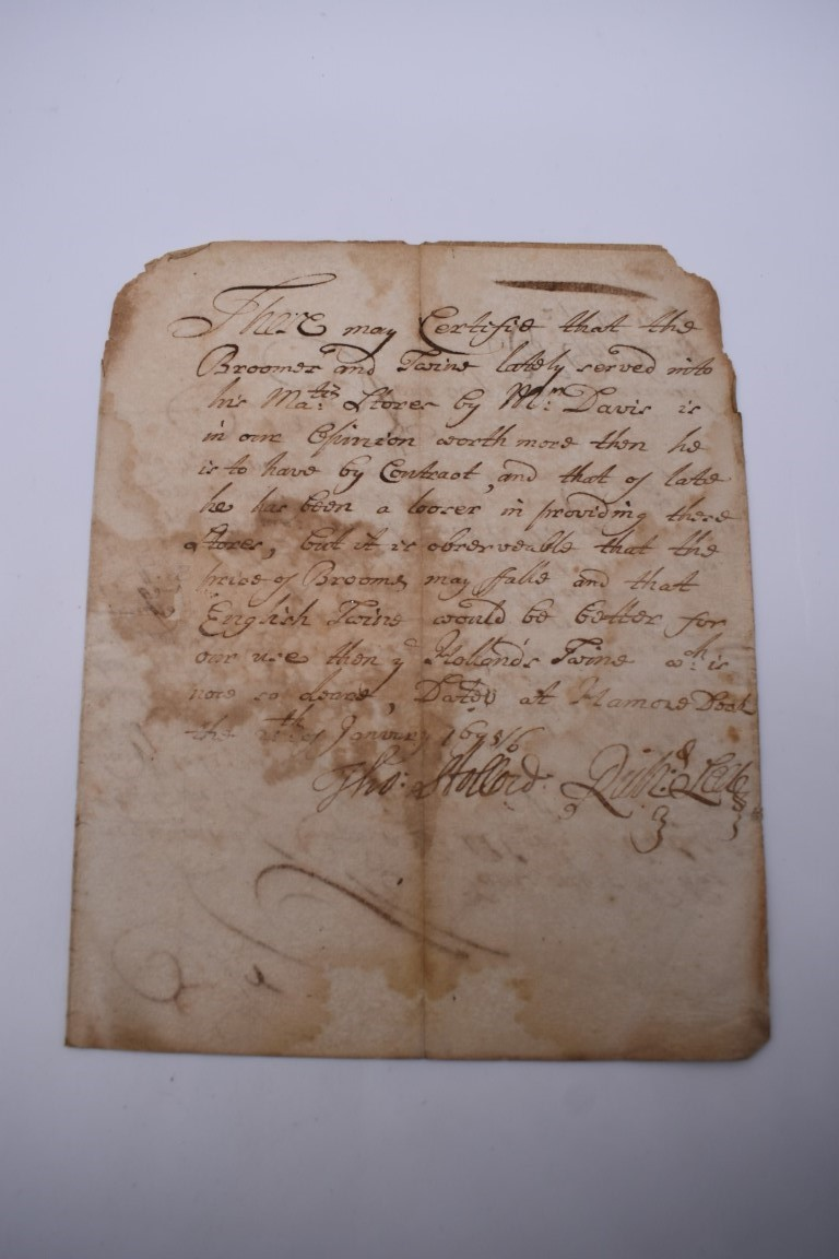 MANUSCRIPT DOCUMENTS, 17TH & 18THC:a group of 6, to include 34 line witness account of an assault - Image 10 of 11