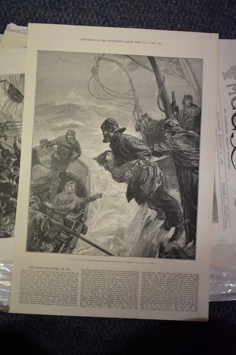 MARITIME ENGRAVINGS: SHIPWRECKS:collection of approx 50 prints and engravings, largely 18th-19th - Image 47 of 62