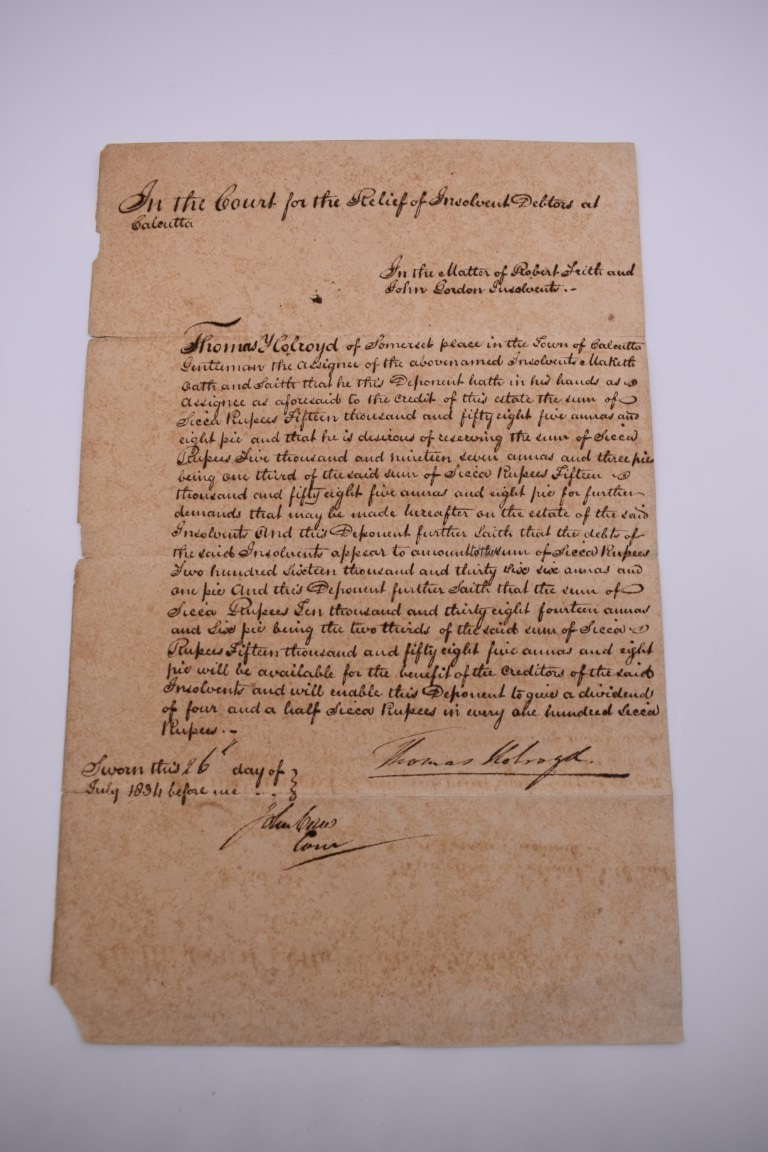DOCUMENTS, LETTERS AND AUTOGRAPHS: collection of 5 items, to include: Approval of Disbursements of - Image 5 of 8