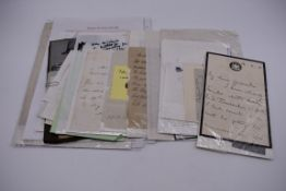LETTERS AND AUTOGRAPHS, NAVAL AND MILITARY:collection of approx 30 items, late 18th-early 20thc, to