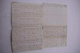 CUBA:contemporary manuscript translation of letter from Governor Henry White of Florida to