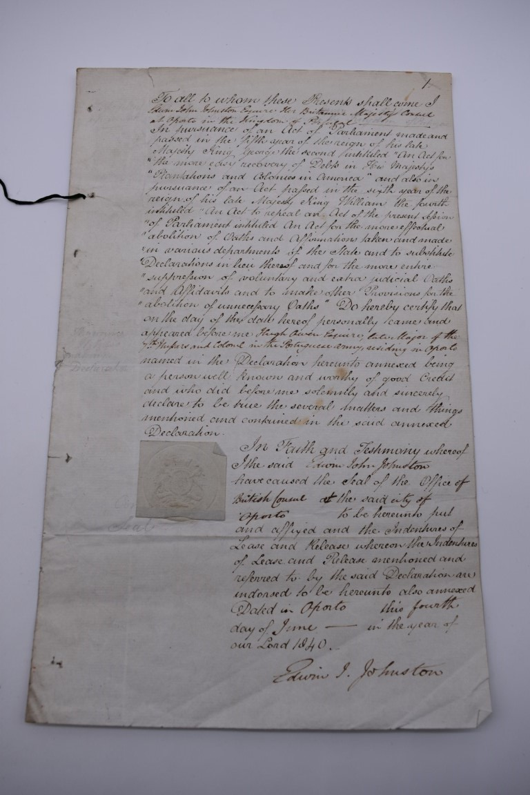 NORTHUMBERLAND MILITIA:commission for Peter Paxton, 10 January 1813 as Lieutenant in the Southern - Image 2 of 9