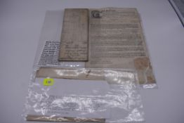 MARITIME DOCUMENTS:a group of 3, to include marine insurance policy 1801, all war risks covered '
