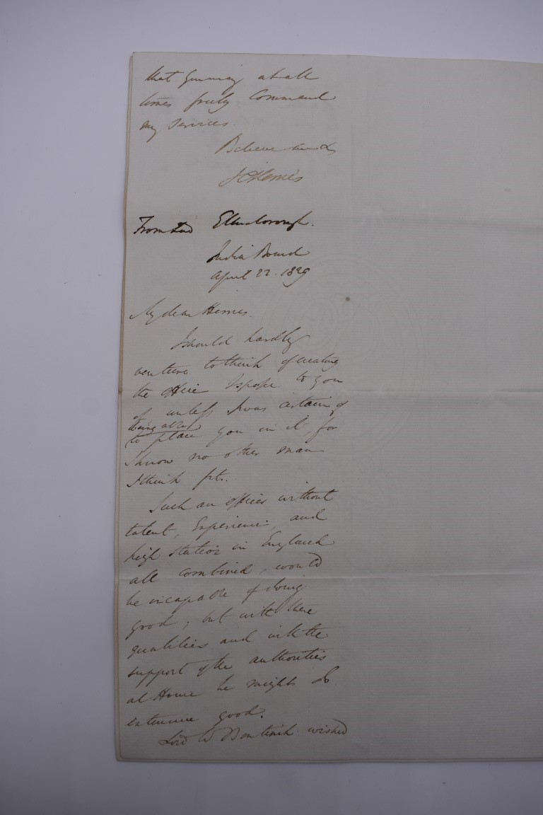 19TH CENTURY LETTERS & DOCUMENTS:two letters entire postmarked Penzance 1840, Buller family, - Image 15 of 23