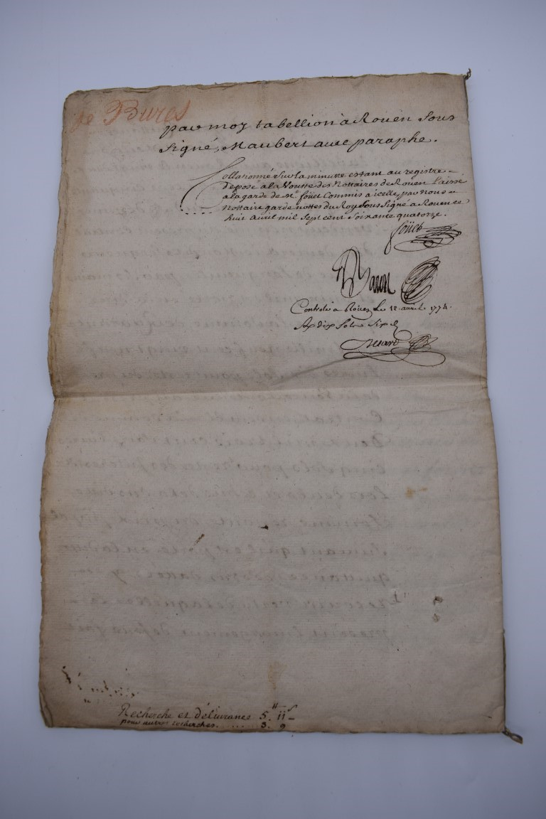 CONTINENTAL DOCUMENTS: group of 9 items, including French manuscript on vellum dated 1645: - Image 24 of 24