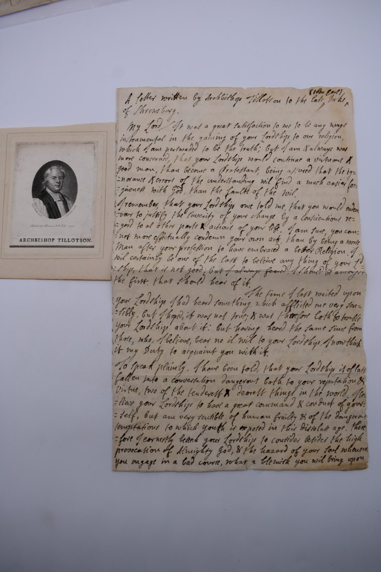 MANUSCRIPTS:collection of approx 15 items, 17th-early 19thc manuscripts, to include 2pp letter - Image 22 of 29