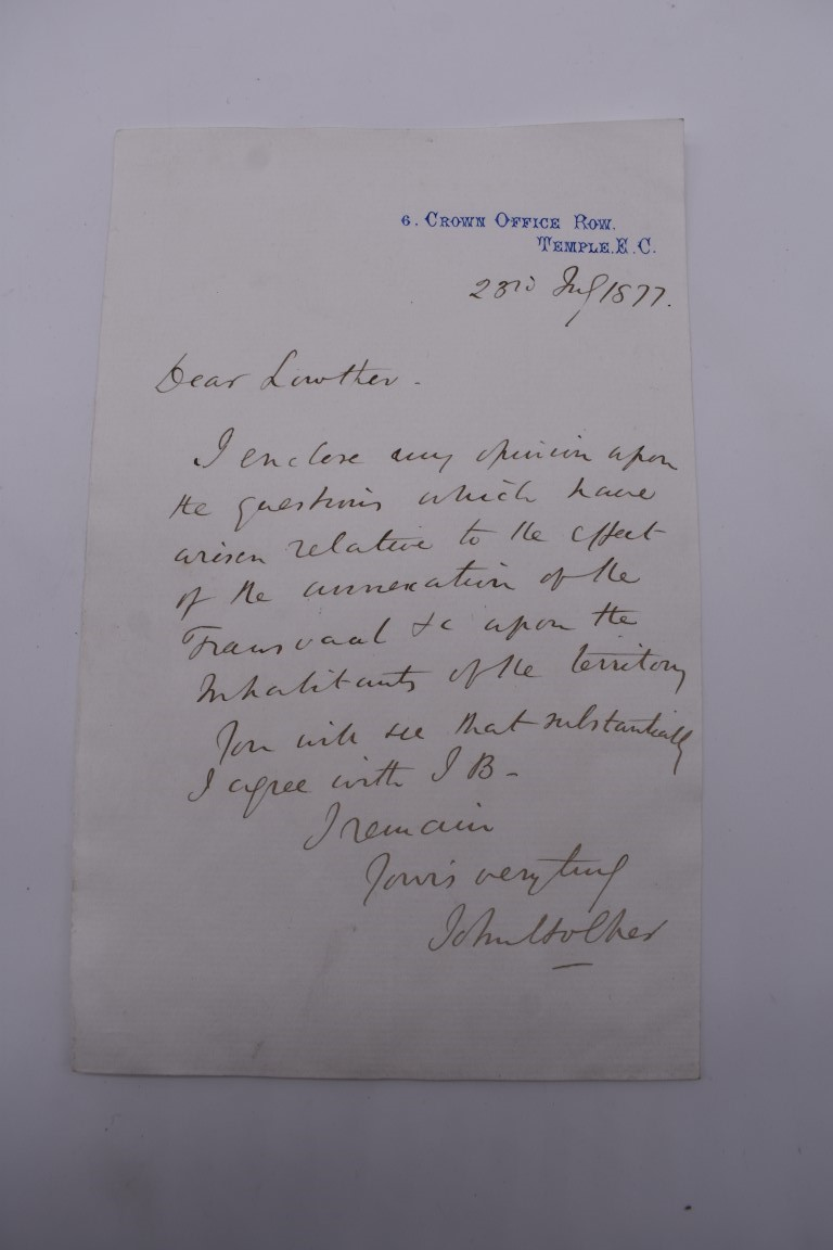 19TH CENTURY LETTERS & MANUSCRIPT:collection of approx 35 items, 19th century and a few later, - Image 4 of 53