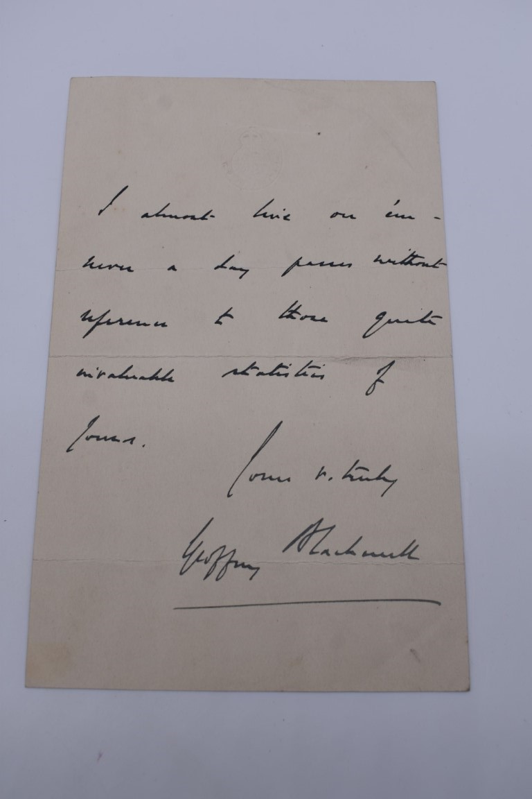 HARWOOD (Sir Ralph Endersby, 1883-1952):a small collection of typed and handwritten letters and - Image 3 of 9