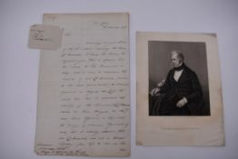 PALMERSTON (Viscount):2 side ALS to Monsieur Roth at French Consulate, 50 Portland Place