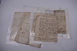 MANUSCRIPTS, ENGLISH, 17TH & 18TH CENTURY:a group of 8 items, to include letter entire from John