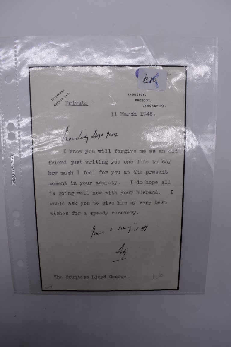 LETTERS:a collection of 20 items, largely letters late 19th-earlier 20thc, to include short one - Image 14 of 26