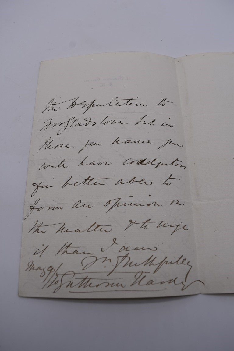 LETTERS, SIGNATURES, MANUSCRIPT MISCELLANY: a collection of over 45 items, largely 19th and early - Image 26 of 83