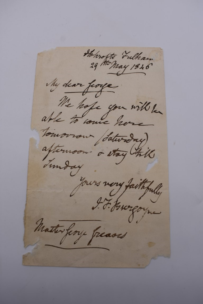LETTERS, SIGNATURES, MANUSCRIPT MISCELLANY: a collection of over 45 items, largely 19th and early - Image 42 of 83