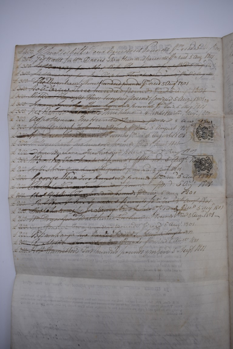 MARITIME DOCUMENTS:a group of 3, to include marine insurance policy 1801, all war risks covered ' - Image 10 of 15