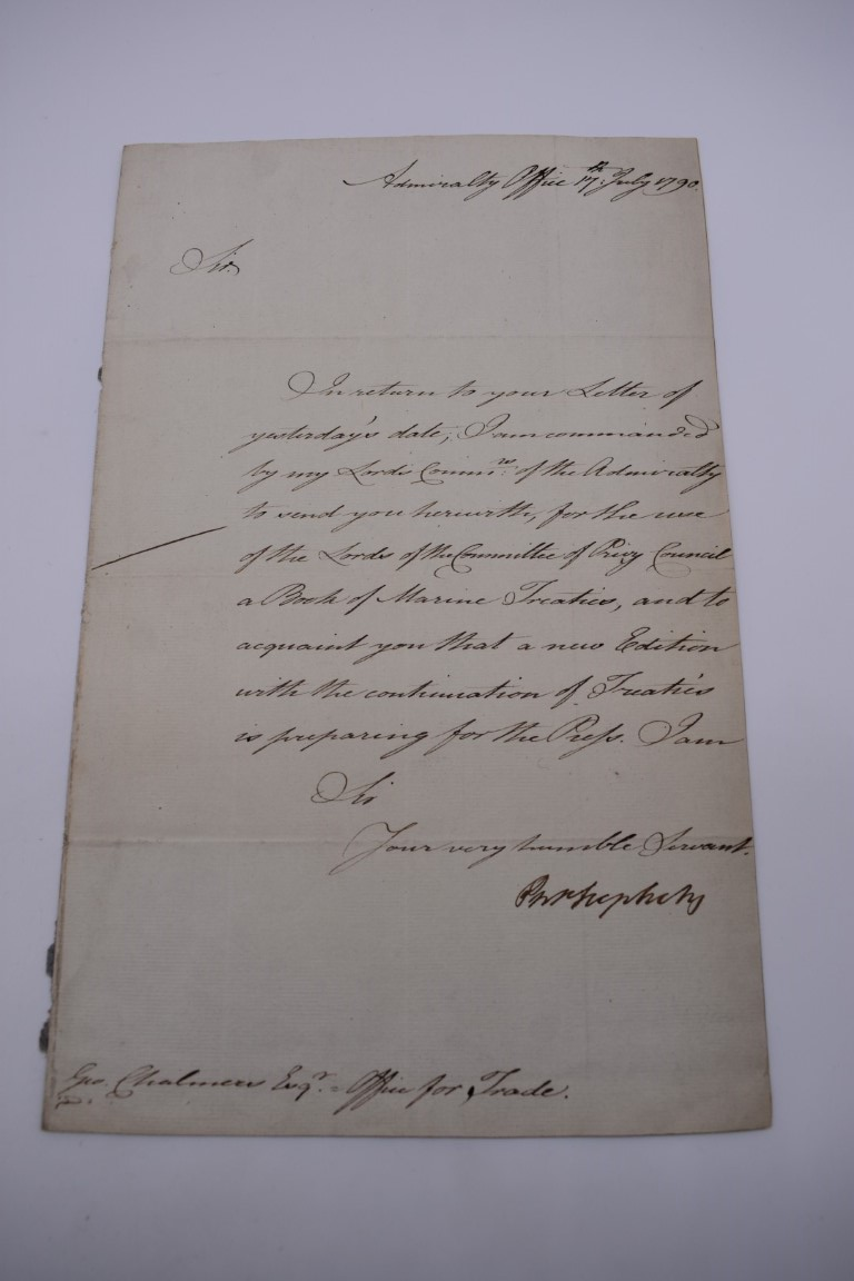 NAVAL ORDERS:collection of 3 late 18th century manuscript naval orders, variable condition, - Image 3 of 8