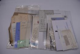 MANUSCRIPTS:a quantity of letters and cut signatures, largely 19th century. (A bundle)