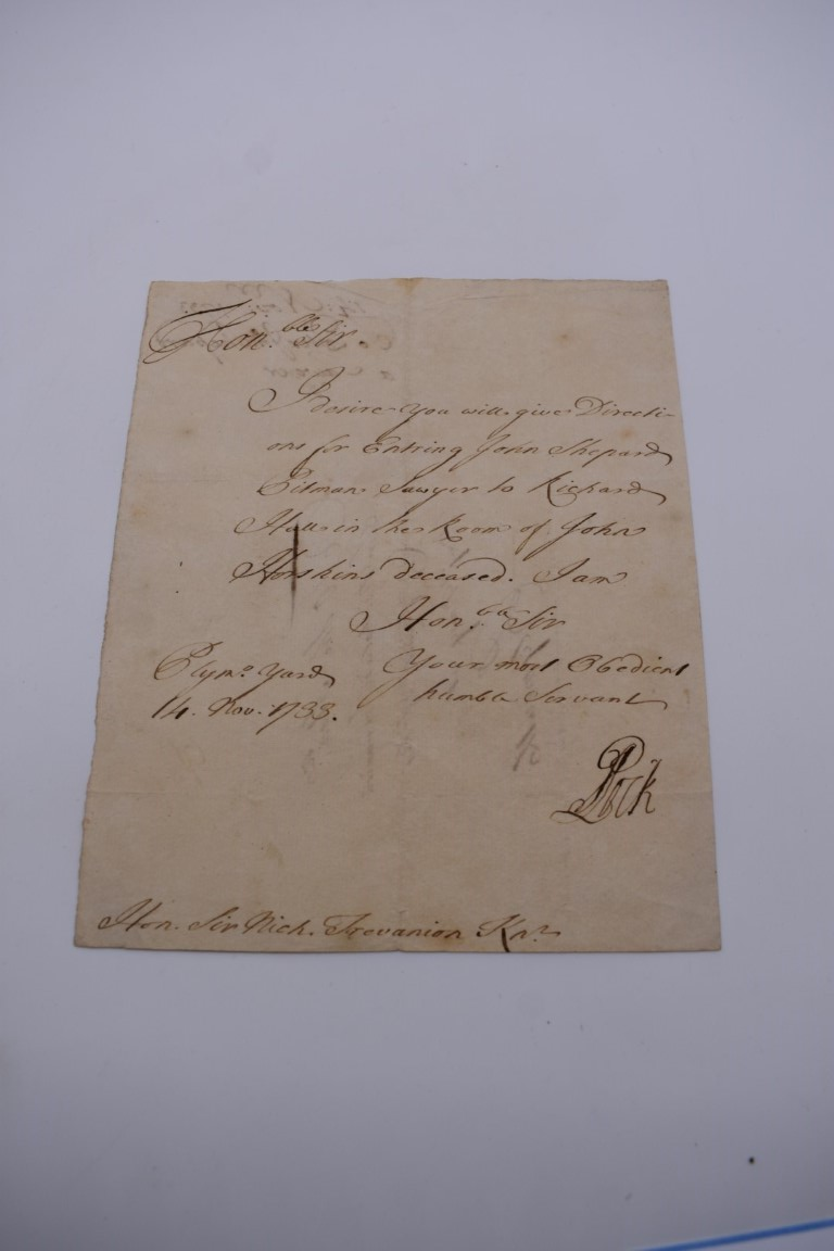 18TH CENTURY LETTERS:a group of 7 autograph letters signed, all English 18th century, to include - Image 10 of 14